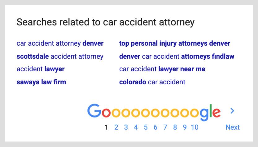 lawyer google search ads